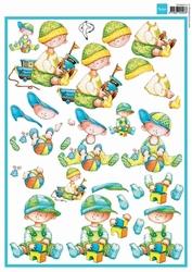 MD A4 Knipvel Hetty's Snoesjes 3DHM014 Baby boys Geboorte