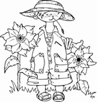 MD clear stamps Hetty's Snoesjes HM9419 In de tuin