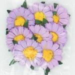 Plakbloemetjes lila