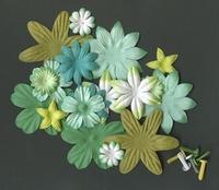 Flower and Brads 553 Groen tinten