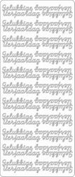 Stickervel Peel-off 1613 Gelukkige Verjaardag
