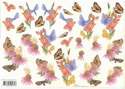 Knipvel A4 Mireille E780 Bloemen en vlinders