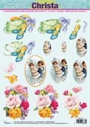 A4 Knipvel Christa SL 10 Dames/vintage/rozen