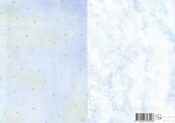A4 Achtergrondvel Marjoleine Design 10 Komma/wolkjes