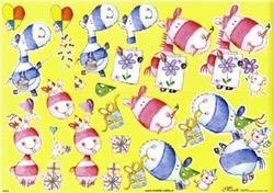 Knipvel A4 Mireille 1012 Grappige dieren