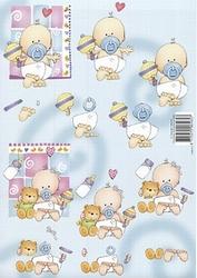 A4 Knipvel Avec 011 Baby Jongen/meisje met fopspeen
