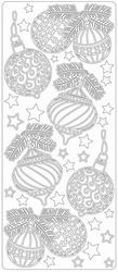 Kerststicker TH 1718 Kerstballen Grootformaat 1