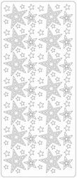 Kerst stickervel 1696 Diverse Maten Sterren