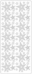 Kerststicker TH 1696 Diverse Maten Sterren