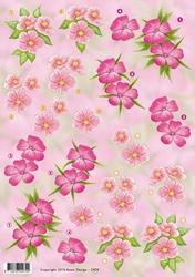 3D Knipvel Anne Design VBK 2474 roze bloemen