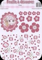 A4 Knipvel RoSa-Dotje NR.02  With roses
