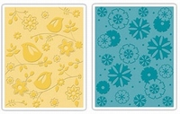 Sizzix textured impressions folder 657085 Birds & flowers se