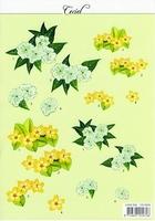 MD A4 Knipvel Ceciel CE 6504 Gele/witte bloem