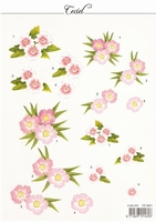 MD A4 Knipvel Ceciel CE 6501 Roze bloemen