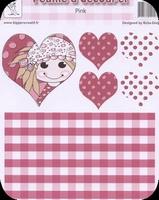 A4 Knipvel RoSa-Dotje NR.03 Pink hearts