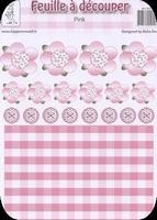 A4 Knipvel RoSa-Dotje NR.01 Flowers & buttons