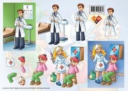 A4 Knipvel Carddeco CD10006 Beroep Dokter/verpleegster