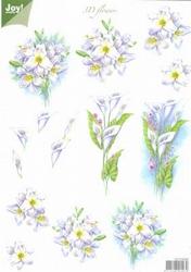 A4 Knipvel Joy 3D Flowers 6010/0025 Witte lelies
