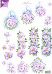 A4 Knipvel Joy 3D Flowers 6010/0021 Duifjes