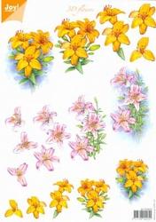 A4 Knipvel Joy 3D Flowers 6010/0023 Oranje lelies