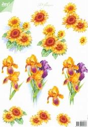 A4 Knipvel Joy 3D Flowers 6010/0024 Zonnebloem