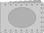 Passe-Partout Romak A6 liggend schulp met ovaal 21 wit