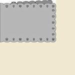 Passe-Partout Romak A6 liggend schulp 23 rood