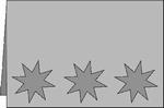 Romak stanskaart A6 Triovenster ster 23 rood