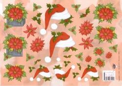 A4 Kerstknipvel Nel van Veen 2291 Kerstmuts
