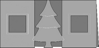 Kabinetkaart Romak Kerstboom 22 ivoor