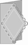 Romak Stanskaart 289 Buiten schulp ruit 25 blauw