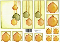 A4 Knipvel Marjoleine 712926355189 Hardanger Kerstballen