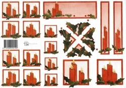 A4 Knipvel Marjoleine 712926290190 Rode kaarsen