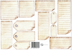 A4 Knipvel Marjoleine 712926303135 Labels bruin