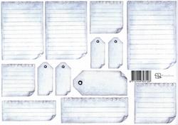 A4 Knipvel Marjoleine 712926303128 Labels blauw