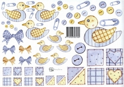 A4 Knipvel Marjoleine 712926303180 Baby blauwe eendjes