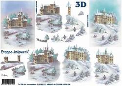 A4 Knipvel Le Suh Kerst 4169405 Landschap met kasteel