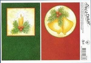 Deco Draw Borduurkaart DD004 Kerst Kerstklok