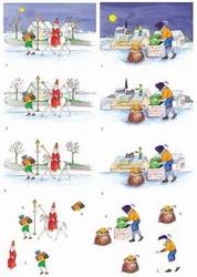 3D Knipvel voorbeeldkaarten 8564 Sint en Piet