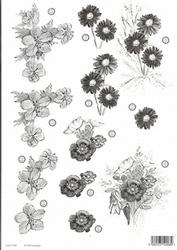 A4 Line Stansvel 120 bloemen