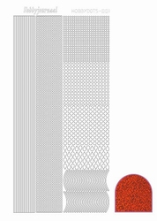 Stickervel Hobbydots Diamond STDD05 rood