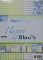 Joy! A5 Paperbloc 6011-0007 Happy blauw