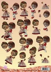 A4 Knipvel Helene Deux CD10073 Dansend paartje