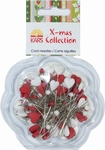 X-mas collection 066 Kaart naalden hart, bolletje