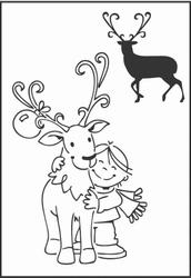 MD Clear stamps EC0118 Eline's Reindeer