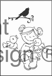 MD Clear stamps EC0117 Eline's Turtle dove
