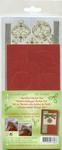 LeCreaDesign Kerstbal Sticker Set 61.6066 rood