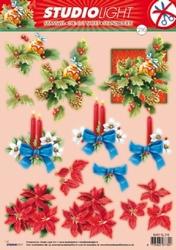 A4 Stansvel Studio Light Kerst 216 Kerststuk/ponsetta/kaars