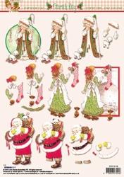 A4 Kerstknipvel Studio Light SK06 Sarah Kay