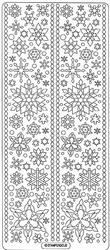 Peel 'offs Kerststicker 2233 Sneeuw Vlokken